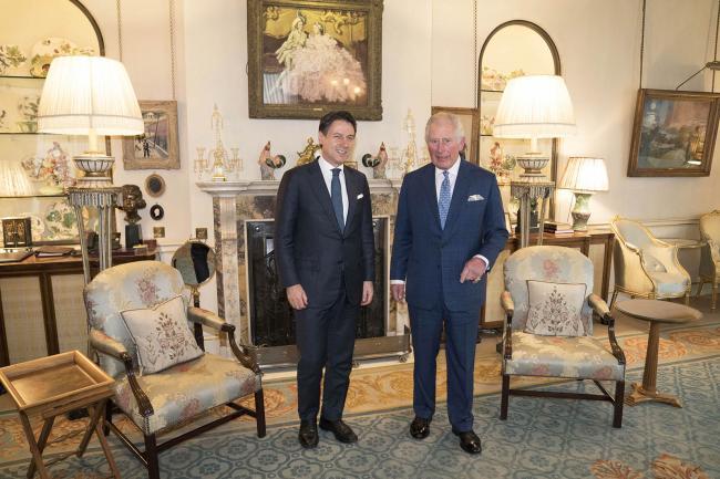 Il Presidente Conte con il Principe di Galles