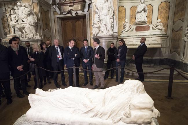 """XXXV Vertice intergovernativo italo-francese, visita al """"Cristo Velato"""""""