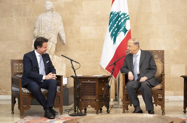Il Presidente Conte incontra il Presidente della Repubblica Libanese