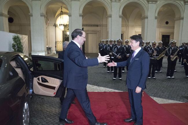 Conte riceve il Primo Ministro della Repubblica Tunisina