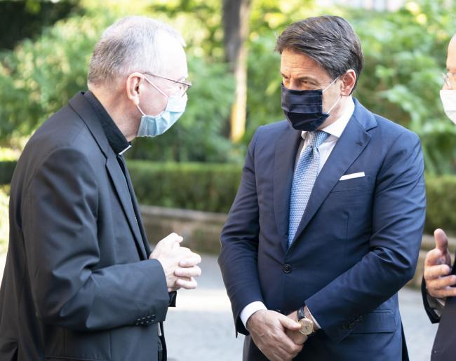 Il Presidente Conte con il Cardinale Pietro Parolina Palazzo Borromeo