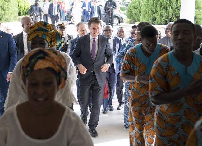 Il Presidente Conte in visita in Ghana