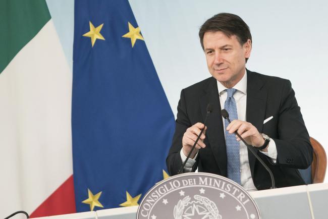 Il Ministro Gualtieri al termine del Consiglio dei Ministri