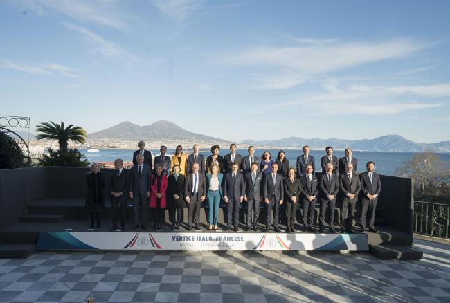 XXXV Vertice intergovernativo italo-francese, foto di famiglia