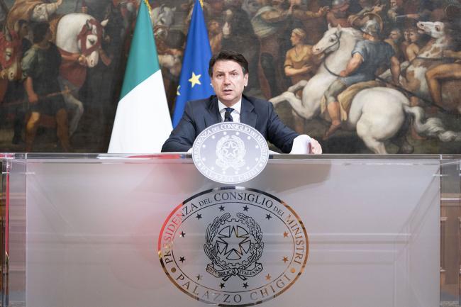 Il Presidente Conte a Palazzo Chigi