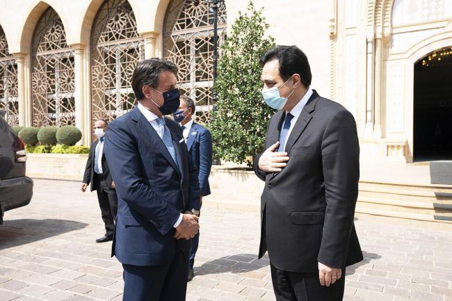 Il Presidente Conte incontra il Presidente del Consiglio dimissionario della Repubblica libanese