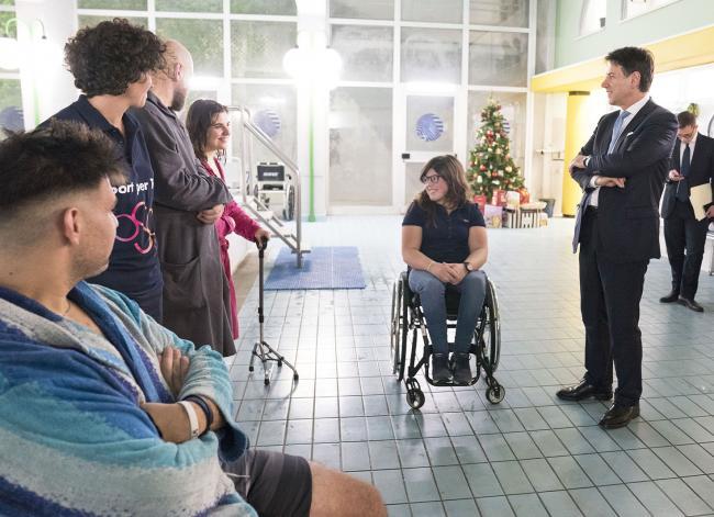 Il Presidente Conte alla Fondazione Santa Lucia