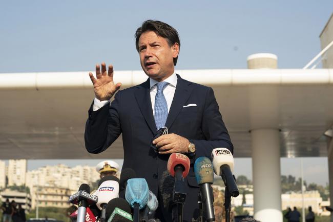 Punto stampa del Presidente Conte a Beirut