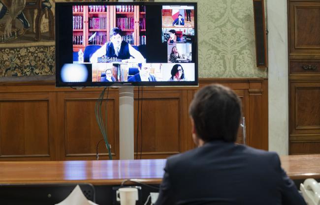 Riunione del Presidente Conte con il Comitato tecnico-scientifico