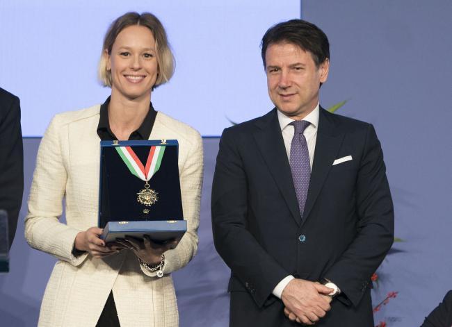 Consegna dei Collari d'oro, Conte con Federica Pellegrini