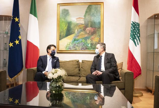 Il Presidente Conte incontra il Presidente del Consiglio incaricato della Repubblica libanese