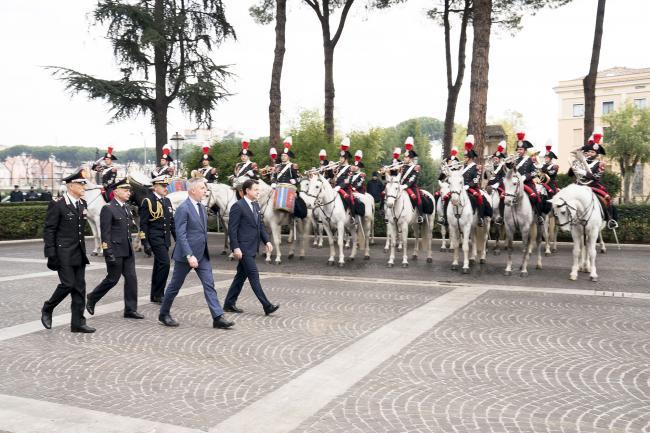 Il Presidente Conte alla Scuola Ufficiali Carabinieri