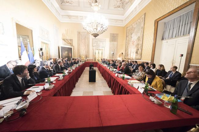 XXXV Vertice intergovernativo italo-francese, i colloqui ministeriali