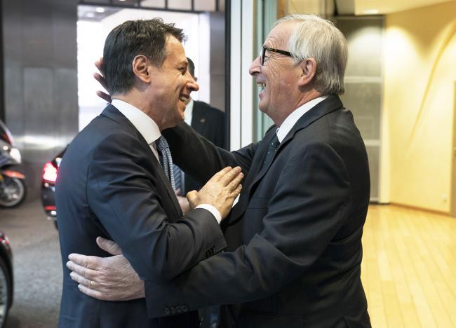 Conte con Jean-Claude Juncker