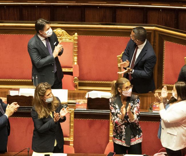Il Presidente Conte in Senato per l'informativa sugli esiti del Consiglio europeo