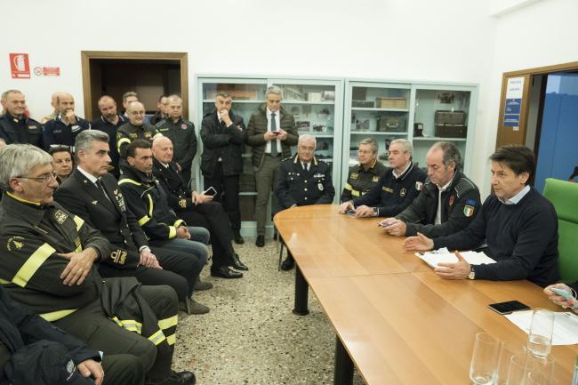 Maltempo, Conte alla riunione operativa a Venezia