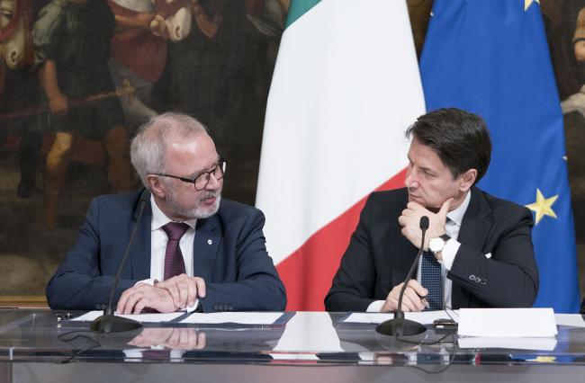 Il Presidente Conte con il Presidente della BEI Hoyer