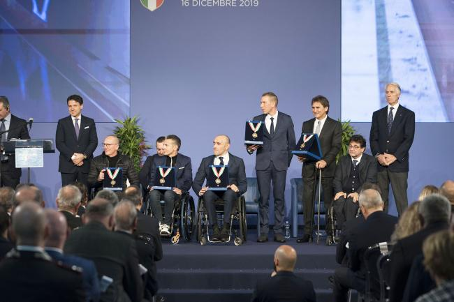 Il Presidente Conte alla cerimonia di consegna dei Collari d'oro