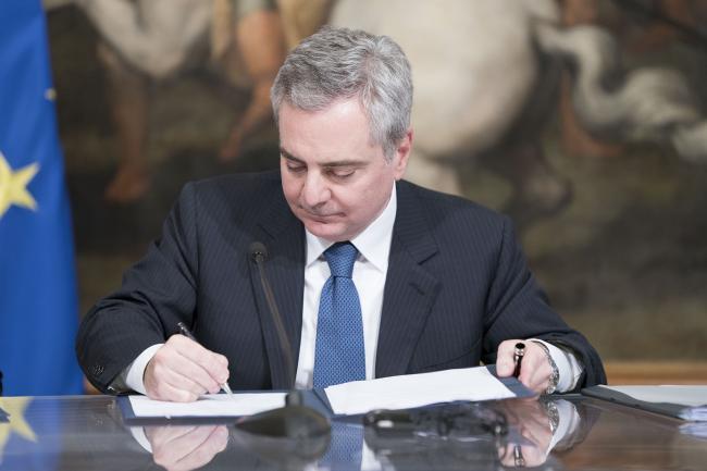 Il Vice Presidente della BEI Scannapieco firma il Protocollo d'intesa