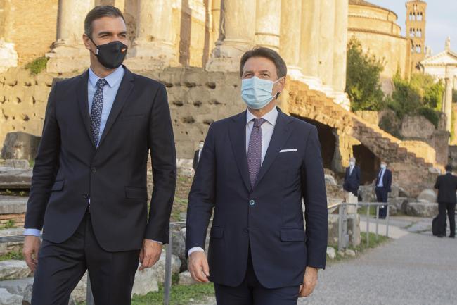 Conte riceve Pedro Sánchez