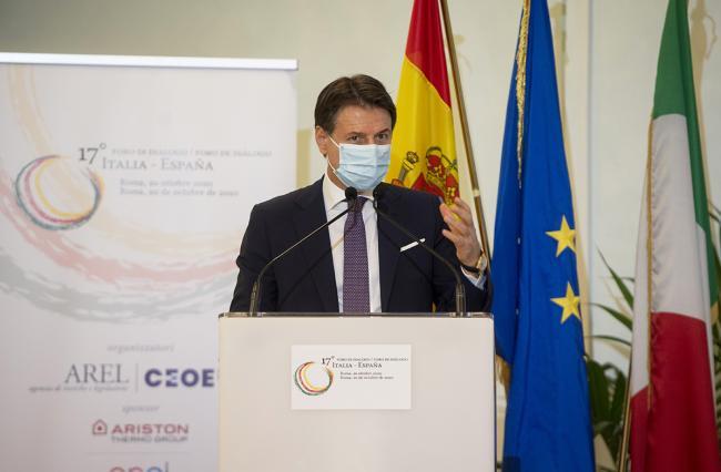 Conte presso la sede della Rappresentanza in Italia della Commissione europea