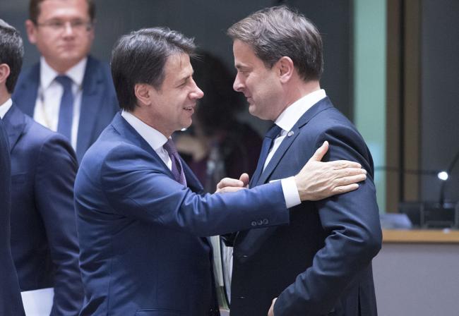 Conte partecipa ai lavori della prima giornata del Consiglio europeo