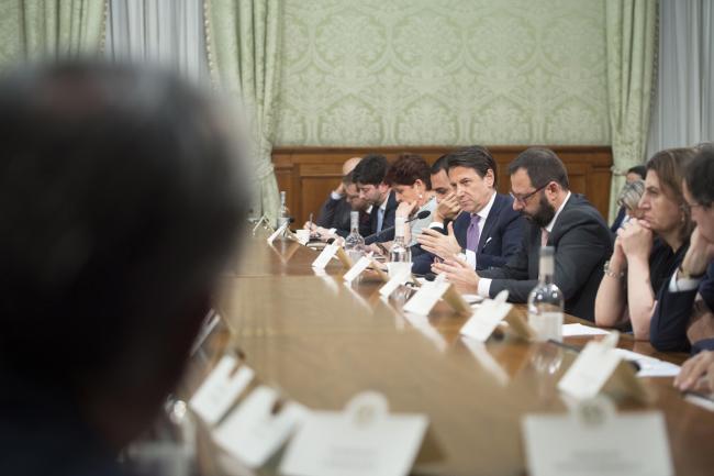 Ex Ilva, il Presidente Conte incontra istituzioni locali e parti sociali a Palazzo Chigi