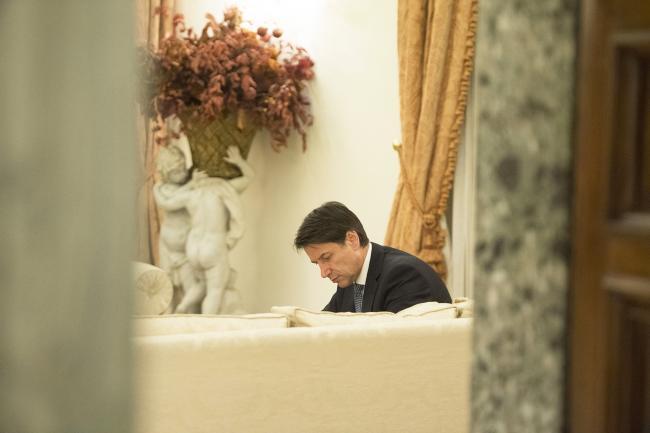 Il Presidente Conte al Casino del Bel Respiro