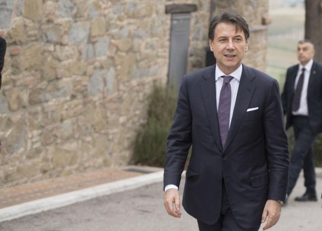 Il Presidente Conte visita l'azienda Brunello Cucinelli