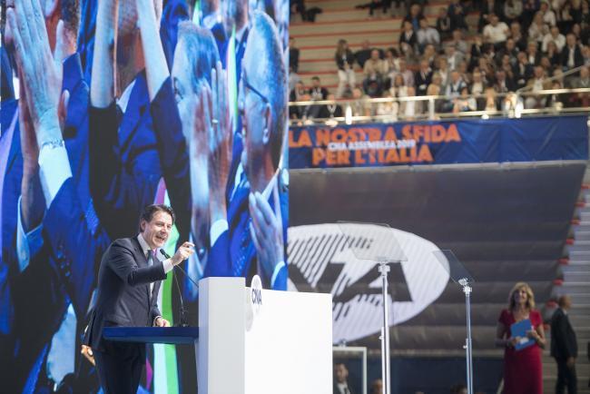 Il Presidente Conte all'Assemblea nazionale della CNA