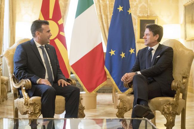 Conte incontra il Primo Ministro della Repubblica di Macedonia del Nord