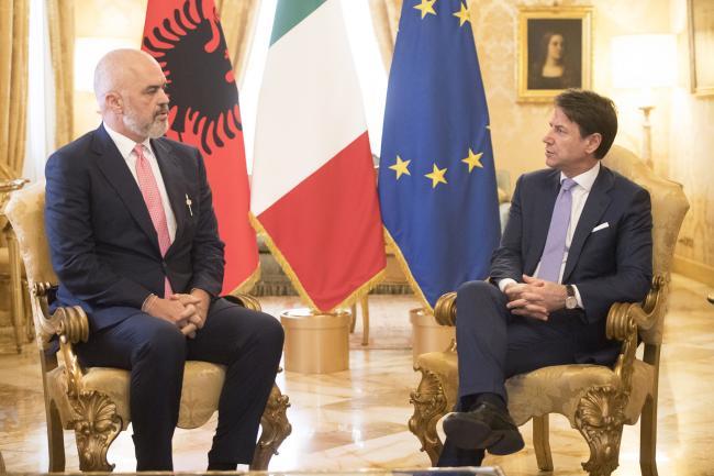 Conte incontra il Primo Ministro della Repubblica d'Albania