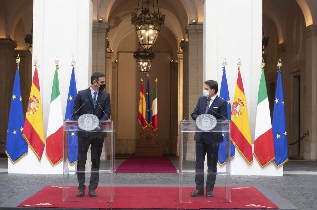 Conferenza stampa Conte - Sánchez