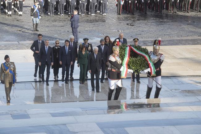 Conte alla cerimonia per il Giorno dell'Unità nazionale e Giornata delle Forze Armate