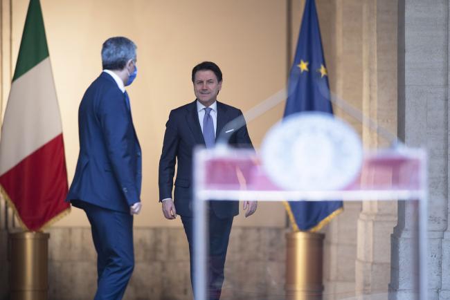 Conferenza stampa del Presidente Conte a Palazzo Chigi