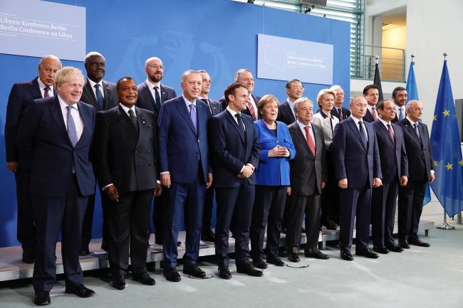 Conferenza di Berlino sulla Libia, foto di famiglia