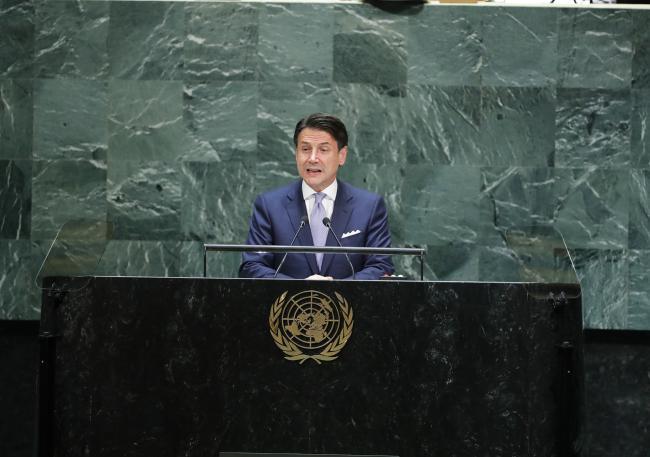 Il Presidente Conte interviene al Dibattito Generale dell'Assemblea Generale ONU